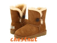 5991 KID girl boy  Bailey Button Real leather snow children boots