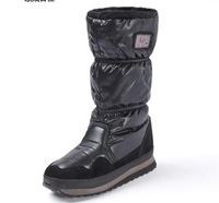 women shoes knee-high flats winter boots snow boots women's shoes new 2013 brand leather boots