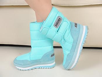 2015 real winter pvc high boots free shipping!2014 new boots high-leg platform snow shoes waterproof medium-leg female!hot sale