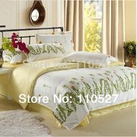 Promotion !! flower Print Bed Sheets 3/4pcs Bedding Set duvet set  bedding DUVET COVER SET  BEDLINE