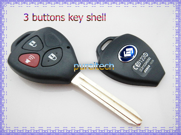 free shipping toyota camry car remote key case 3 buttons toy43 wholesale in alarm systems. Black Bedroom Furniture Sets. Home Design Ideas