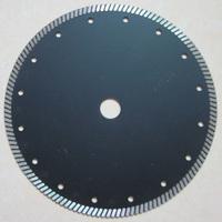 "9""/230mm hot pressed diamond turbo saw blade for granite cutting by continous narrow turbo teeth"