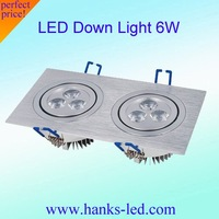 Free Shipping White and warm white  6w  LED Down Light  AC85~265V