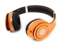 Fashion portable headset high resolution sound high quality STUDIO headphones Orange color with logo