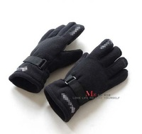 Men and women winter gloves double upset warm polar fleece riding outdoor gloves male female gloves