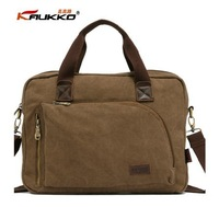2014 brand fashion designer vintage men's canvas commercial briefcase laptop bag handbag for men, wholesale