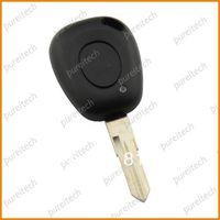 free shipping renault clio megane laguna car remote key fobs case 1 button no logo uncut blade wholesale