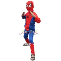 Free shipping Toddler Boys Spiderman Muscle Separates Costume