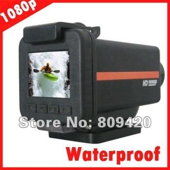 5.0Mega Pixels Full HD 1080P@30fps Waterproof Outdoor Sport Action Helmet Camera with 1.5 inch Screen,HDMI, Car DVR