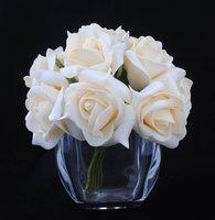 HOT SALE!!! Free Shipping 10stems/bunch Foam Rose Flower Wedding Flower Bouquet