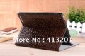 New Crocodile Pattern Standable Leather case for New iPad iPad 2 iPad 3 Tablet PC  free shipping