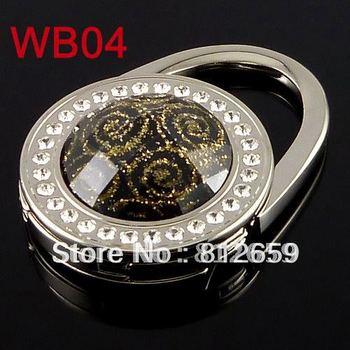 2013 hot selling 11 pcs/lot zinc alloy crystal resin lock foldable fashion bag hook handbag holder free shipping