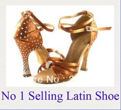 "L-110 new style Ladies Ballroom latin dance shoe Free shipping worldwide 3.3"" heel height on picture(China (Mainland))"