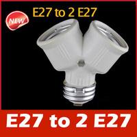 E27 to 2 E27 Light Lamp Bulb Adapter Converter Splitter