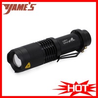 SK98 Black UltraFire XML-T6 Zoomable Focus LED 1200lumen Waterproof 18650 Camp Bicycle Flashlight Torch 3Mode Free Shipping