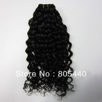 "100% brazilian deep weave hair natural black 12""-26""for you nice New star queen hair"