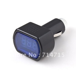 LED Display Cigarette Lighter Electric Voltage Meter For Auto Car Battery(China (Mainland))
