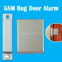 Free Shipping 100% NEW Wireless GSM Alarm SIM Card Ear Bug Phone Device Home Security Door Sensor Alarm(China (Mainland))