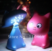 free shipping 220V, 6~10w, Creative cat Cartoon table lamp, led desk lamps can be used study and work for children and people