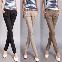 2014 jwomen harem pants long trousers OL women's slim casual pants pencil pants