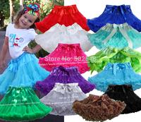 Retail 3M-15T Girls Pettiskirt Children Baby Very Soft Chiffon Solid Color Princess TuTu Skirt Kids Clothes Free Shipping 1 PCS