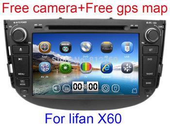 Lifan X60 Car DVD Player Stereo GPS Navigation TV Bluetooth Radio Russian language 3G USB Port+ Gift camera+ EMS Free shipping