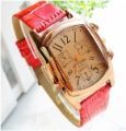 Freeshipping wholesale Lady square high-grade  leather wrist  watch ,quartz watch,Xmas gift