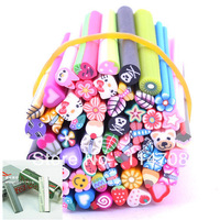 Min order is $5(can mix order)Nail Art Mp3 Phone Fimo Canes Rods Sticks Nail Sticker Tips Decoration NB12+Free Blade