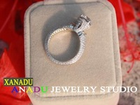 XANADU genuine luxury ring for ladies 925 silver platinum plated classic rings women's ring wedding ring fashion rings 2013