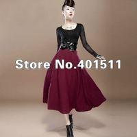 S0070 Custom made Plus size  free shipping 2014  new women wool long skirt warm maxi skirt  floor lenght skirt