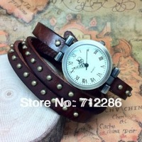 New wholesale  luxury ladies vintage wristwatches for women gift fashion watch clock designer leather quartz watch free shipping
