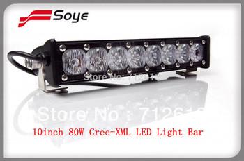 new product in China 10inch 80W cree led light bar single row offroad lighting atv 4x4 utv