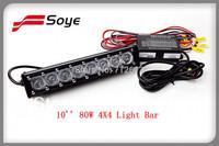 New arrival 10'' single row cree led light bar IP68, 7w super bright cree led chips, fashion design cree led bar lights