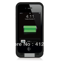 For iPhone4 4S  External Battery Case 2000 mAh, HIgh Cass Bachup Batttery Case for iPhone4, Free Shipping