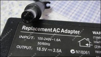 10pcs/lot  NEW 18.5V 3.5A 65W AC Adapter Power Supply Charger for HP PPP009H, PPP009L,PPP009s,412786-001