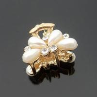 New 2014 hair accessories gripper hair accessory pearl created diamond flowers girls' dresses autumn summer  wholesale sale