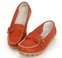 Mama Euro size35~41 genuine leather women shoes lady flats female dance ballet shoes women slip-on loafers moccasins