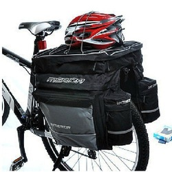 The three-in-one back pack a bicycle tail package shelf package bike back pack large capacity Free Shipping(China (Mainland))