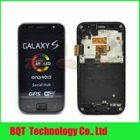 100% Test For Samsung Galaxy SL i9003 LCD touch screen ditigitizer with frame assembly  Free shipping