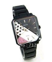 Free shipping Tide rhinestone steel tape fashion women's watch Sinobi 9369