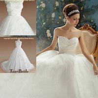 WG01 Professional OEM Manufacture Wholesale Sparkle Ivory Bride  Wedding Dresses