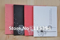new arrive soft leather fashion cartoon protect case 4 colors for new ipad i pad 2/3 free shipping