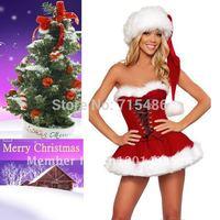Free Shipping!!! Sweetheart Miss Santa Costume Sexy Adult Women Christmas Costume