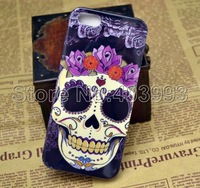 50PCS/LOT Stylish Skull Head Hard Plastic Back Case For Iphone 5