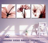 Clear Elegant Moonlight Purple Flower Triptych Unfinished Cross Stitch Kits+ Free Shipping