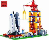 No box No 515 Space Shuttle Launching Enlighten Building Block Set Construction Brick Toys Educational compatible lego