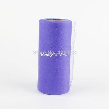 "Lavender Shining TULLE Roll Spool 6""x25yd (6""x75') Tutu Wedding Gift Party Bow 20D"