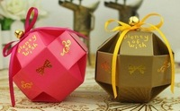 Free Shipping Mixed Colour Wedding DIY Box Favour Wedding Box
