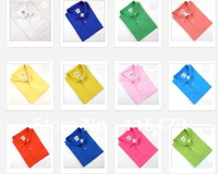 2013 Hot men polo sleeved cottons Men's Clothing Free shipping (100% cotton)