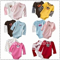 4sizes/3~24M/Can choose sizes Wiggle-in Bodysuit Long Sleeve Infant Romper Girl& Boys jumpsuit Free shipping